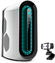 Alienware R11 Gaming Desktop, Intel Core i5-10400F, NVIDIA GeForce GTX 1650 Super, 16GB DDR4 Memory, 512GB PCIe Solid State Drive + 1TB HDD, WiFi, HDMI, KKE 1080P Webcam, White/Lunar Light