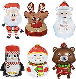 Hihey Ballons de Noël Bonhomme de Neige Père Noël Ballons Pingouin Pingouin pour Noël et Noël - la décoration de Noël Parfaite