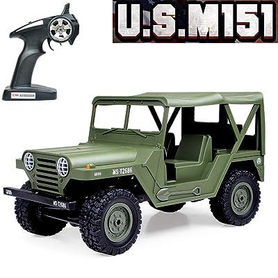 RC Car,Tecesy 1:14 Scale US M151 RC Jeep Milita...