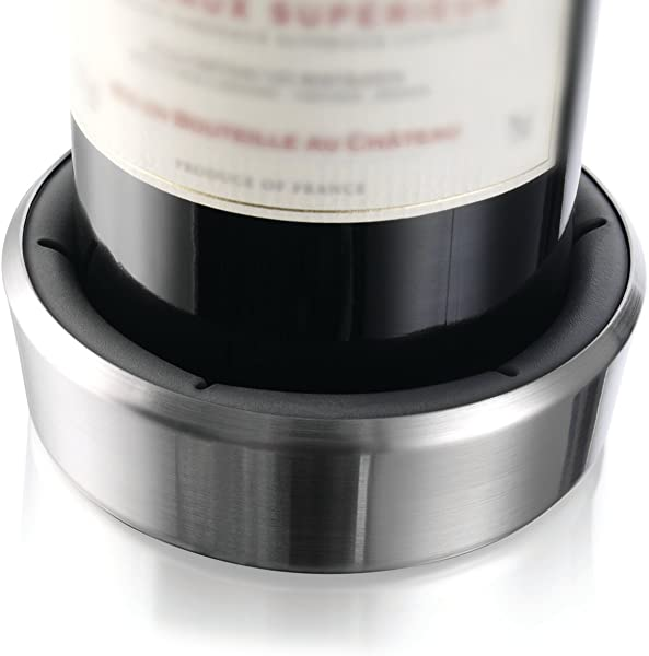 Vacu Vin Wine Bottle Coaster Surface Protector Stainless Steel