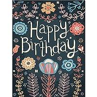 黒板フラワー5DダイヤモンドペインティングキットDIYクロスステッチフルドリルクリスタルラインストーンペインティング刺繡写真アートクラフトホームウォールデコレーション(スクエア40x60cm)