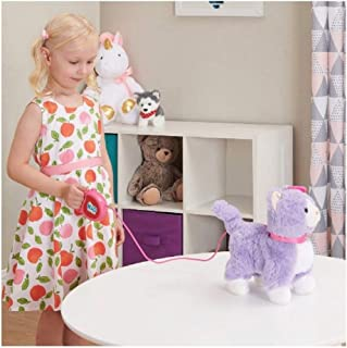 Kid Connection Walking Pet Purple Kitty Or Pink Poodle Puppy (Purple Kitty)
