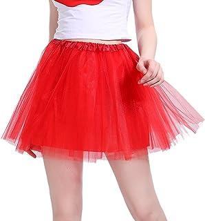 9f58041f3cd2d iLoveCos Années 80 Fluo Néon Tutu de Ballet Filles Bulle Jupe de Danse Mini  Tulle Jupon
