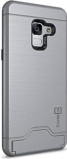 Samsung Galaxy A8 Plus Case cover, coverON, Slim Armor with Slim Dual Layer, Card Slots, Gunmetal Gray