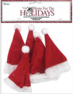 Darice 3x5.5 Holiday Mini Christmas Hat 6pc