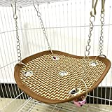 Reefa Hamac Lit Couchage Coussin Maison Jouet Pour Furet Rongeur Rat Hamster Ecureuil Chinchilla Cochon d'Inde-Accessoire Rongeur en Paille Pour L'été