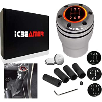 ICBEAMER Racing Styles AluminumReal Carbon Fiber Manual Gear Stick ...