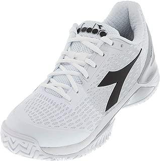 Diadora Men`s Speed Blushield 3 AG Tennis Shoes White and Silver ()