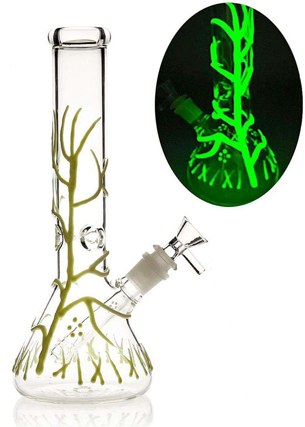 SEA GIANT Hand Made Decorate 10 Inches Glass Crafts Tree Vines Glow in The Dark