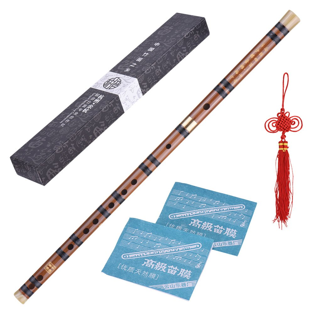 ammoon Professional Black Bamboo Flute Dizi Traditional Handmade Chinese Musical