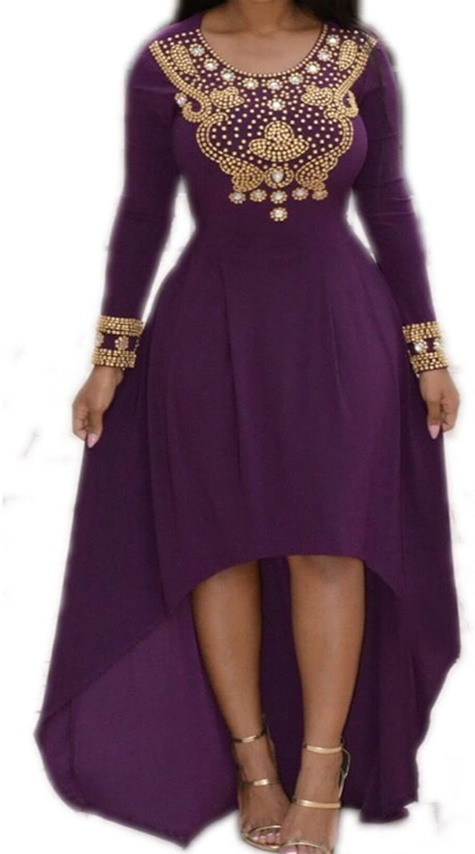 Alice  Hilo Dress 1 HandBeaded Kaftan, Abaya Purple