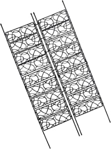 OUTOUR Plastic-Coated Garden 70 Inches Trellis 2 Pack Wire Lattice Grid Panels for Rose Vines, Climbing Plants, Flower, Vegetables, Support, Outdoor Patio Lawn Yard Decoration, Black