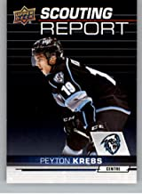 2018-19 UD CHL Scouting Report Hockey #SR-5 Peyton Krebs Kootenay Ice Official Canadian Hockey League Trading Card From Upper Deck