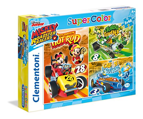 Clementoni- Puzzle Mickey and The Roadster Racer 3