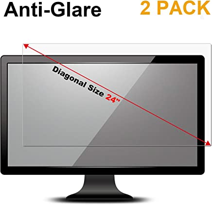 "[2 PACK] 24 inch Anti Glare(Matte) Screen Protector Compatible 24"" Widescreen Desktop with 16:9 Aspect Ratio Dell / Asus / Acer / ViewSonic / amsung / Aoc / HP Monitor"