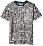 adidas Camiseta de fútbol juvenil Messi Icon - F1606KYB100, Messi Icon Tee (niños pequeños/niños grandes), S, Negro/ azul (Black/Shock Blue)