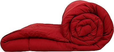 Kuber Industries Microfibre Reversible Comforter, Double (Red) -CTKTC028655