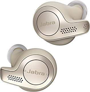 Jabra Elite 65t True Wireless Earbuds Bluetooth in-Ear Headphones with Earphones Charging Case & One-Touch Amazon Alexa & 15 Hours Battery, Gold Beige