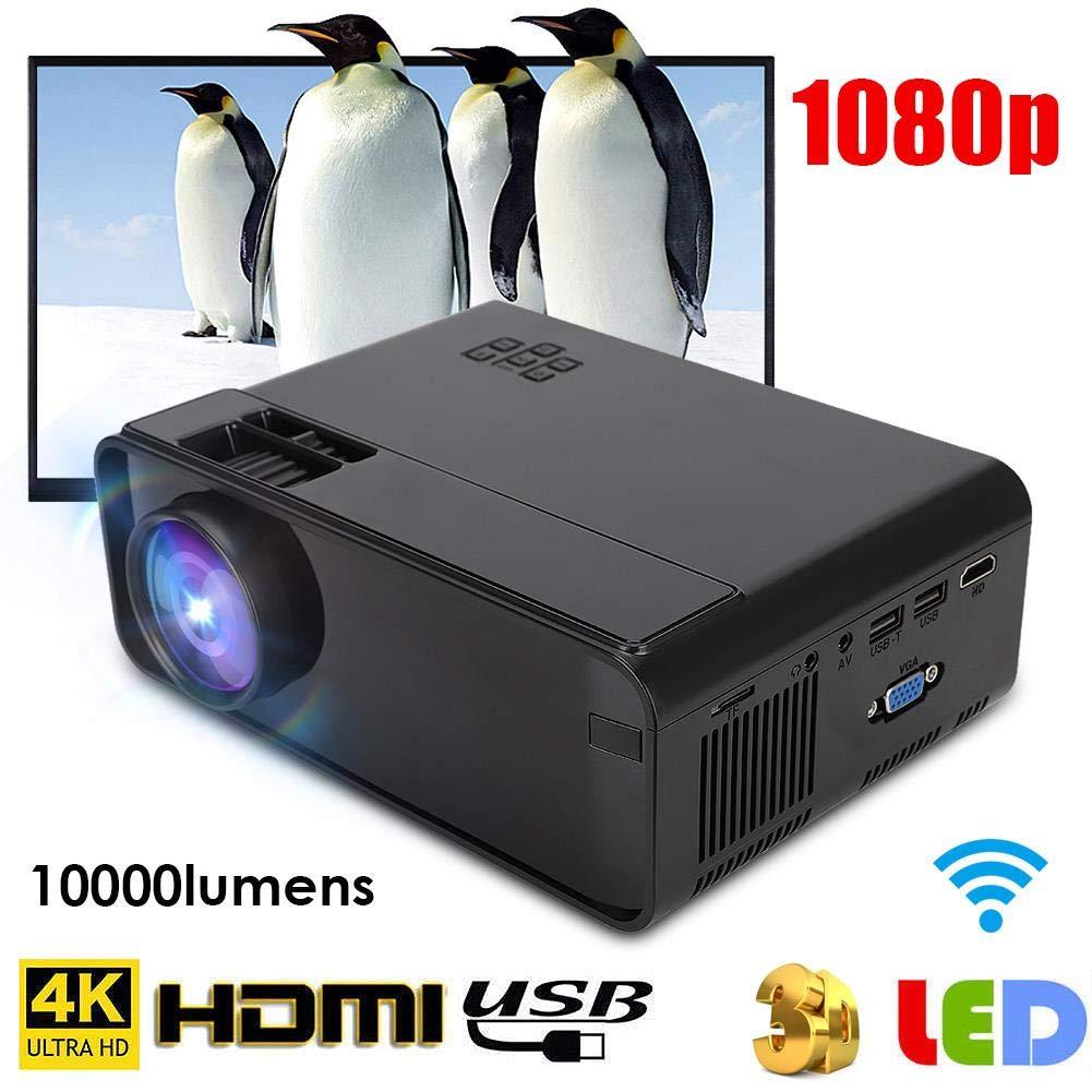 Proyector, Proyector UHD 4K WiFi,1080P LED Proyector Bluetooth ...