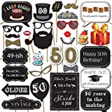 50th Birthday Photo Booth Props with Strike a...