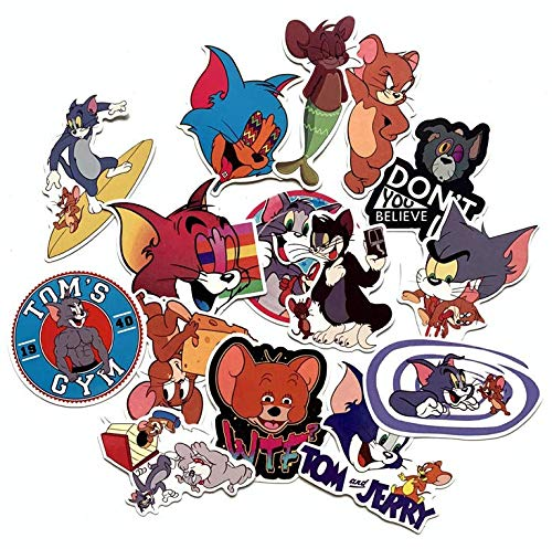 Cat And Mouse Set Tom And Jerry Cute Stickers Personality Waterproof Trolley Suitcase Cartoon Graffiti Stickers 15