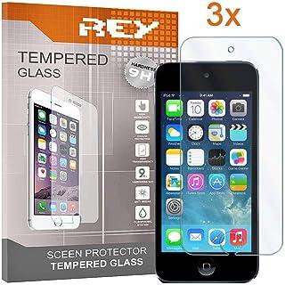c5a24885a96 Electrónica Rey 3X Protector de Pantalla para iPod Touch 5/6, Cristal  Vidrio Templado