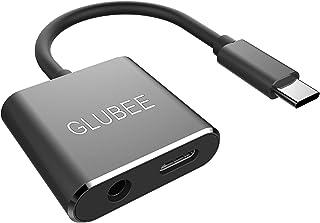 USB-C → 3.5mm ジャック アダプター – GLUBEEUSB Type C から 3.5mmハイレゾ 端子変換 通話 PD急速充電 対応 イヤホン ヘッドフォン オーディオ 変換 コンバータiOS Pad Pro 2018 Sony XZ3 OnePlus 7 Pro Pixel 3 Galaxy S10 Note 9 HUAWEI Mate 20 Pro 他対応 (黒)