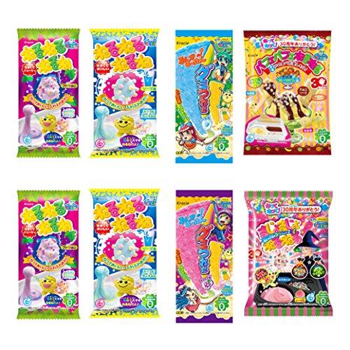 Ninjapo Wrapping Kracie Japanese DIY Candy 'Nerunerunerune' A set: Assorted 'Neruneru Series' total 8 kits