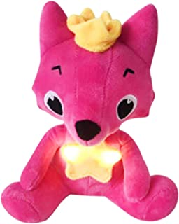20cm Kids Educational Plush Toy Fox Doll Light Singing with Music Baby Doll
