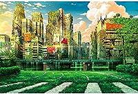 ジグソーパズル1000ピース-スニークピークシリーズ-ランダウンCity_IG-1231大人の特別卒業または誕生日プレゼントの家の装飾のための娯楽玩具