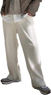 Pantalones Casuales para Hombre Pantalones Sueltos de Pierna Ancha Rectos Rectos Color sólido Pantalones Casuales de Pana ...