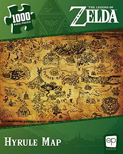 USAopoly- Zelda Hyrule Map Puzzle 1000 Pezzi, Multicolore, PZ005-690