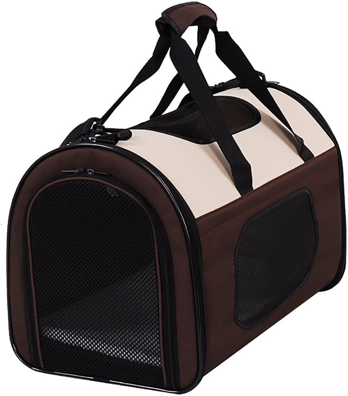 Pet Backpack Carrier Breathable Waterproof Transparent Pet Dog and Dog Travel Bag Outdoor Portable Folding Senior Backpack (color   C, Size   L)