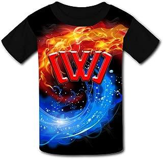 OPAPE Youth C-had W-ild C-lay C-W-C Summer Breathable T-shirt Soft Crewneck Tops