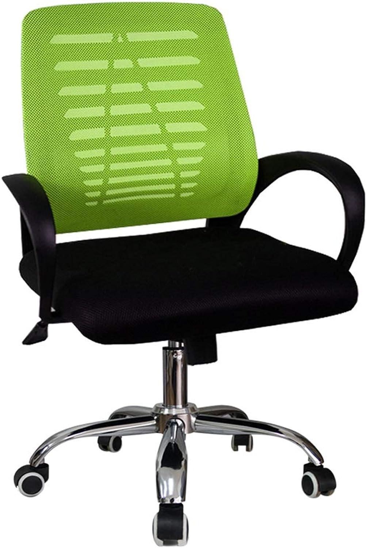 YONGMEI Computer Chair Home Mesh Backrest Chair Stool ,Office Modern Simple Swivel Chair Boss Chair Office Chair Living Goods Furniture (color   Green)