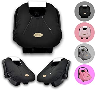 Cozy Cover Infant Car Seat Cover (Black) - The Industry Leading Infant Carrier Cover Trusted by Over 6 Million Moms Worldwide for Keeping Your Baby Cozy, Warm