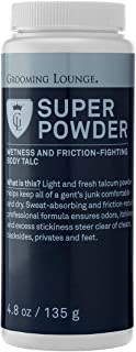 Grooming Lounge Super Powder – Light, Sweat-Absorbing, Odor-Neutralizing, Fresh Fragrance Talc Powder - 4.8 oz