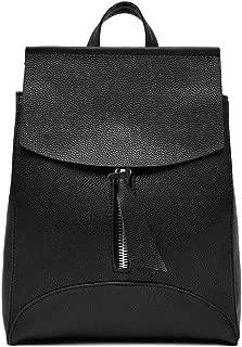 NEW Variety Women Backpack PU Leather School Bags Leisure Backpacks Style 7 Black