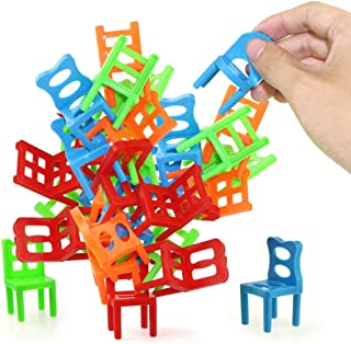 Jenilily Chairs Stacking Tower Balancing Game - Party Favour Stacking Toys - Pile-Up Suspend Family Board Games For Kids (...