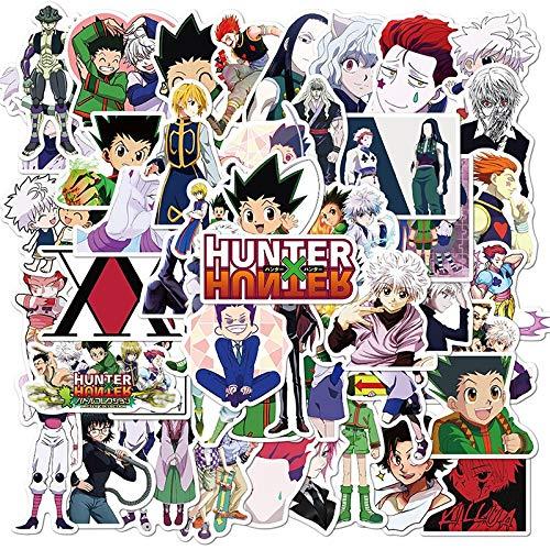 50 Stück New Hunter X Hunter Aufkleber Vinyl für Laptop Schreibwaren Skateboard PS4 Gitarre Aufkleber Helm Classic Kinder Anime Aufkleber Jäger X Hunter Aufkleber 02