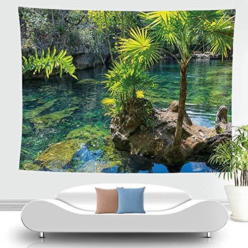 KnSam Tapiz decorativo de poliéster para dormitorio y mujer, resistente al moho, multicolor, para sala de estar, escritorio, picnic, 12 cm x 73 cm