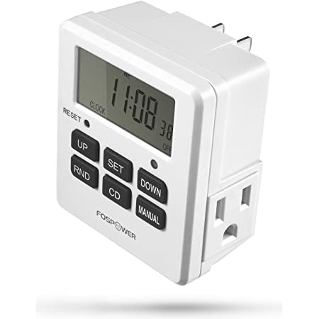 20 On//Off Program Setting and Countdown Setting VIVOSUN 7 Day Programmable Timer Indoor Digital Electronic Timer with Dual Outlet