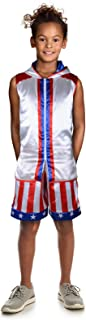 Adult Creed Costume Kids Boxing Rocky Balboa American Flag Robe Kids Halloween Party Cosplay with Shorts Set