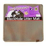 BlackHole Vorleger für Katzentoiletten  - 57 cm x 53 cm - Mittleres Quadrat Doppelte Struktur Matte (Beige)