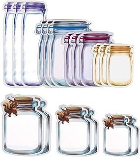 Mason Jar frasco bolsas Estilo tarro Mason CS COSDDI 12 piezas Mason Jar Zipper