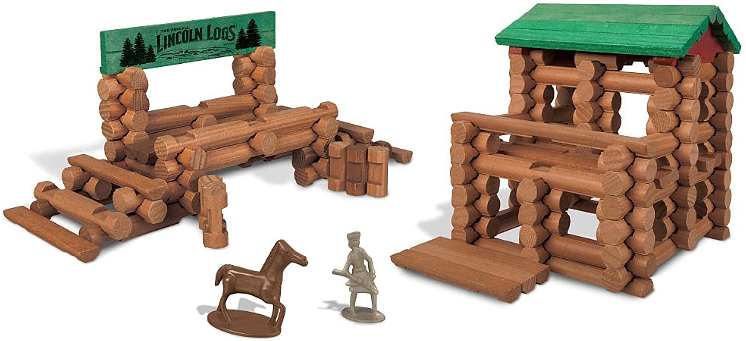 Lincoln Logs Colts Creek Command Post (170Pieces)