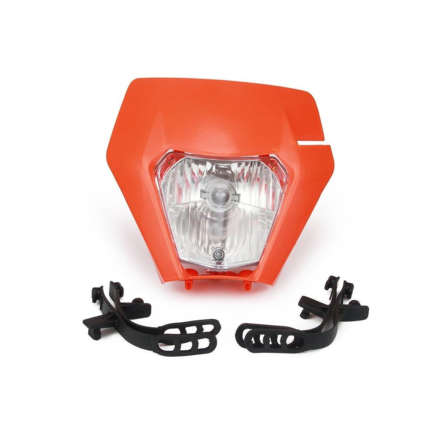 Motorcycle 2017 Universal Plastic Headlight Headlamp Frontlight For KTM EXC SXS SX EXC XC XCF XCW XCFW SXF SMR MX EGS 50-525 (Orange)