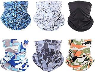 TOFAFA Unisex Neck Gaiter Face Mask Scarf UV+ Multifunctional Headwear Magic Bandana