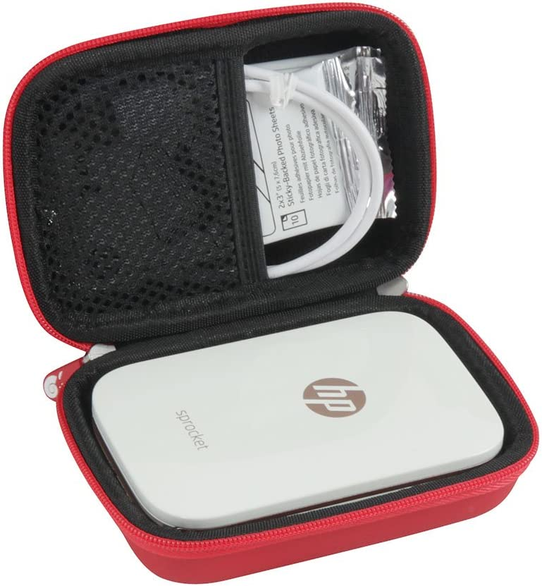 Hermitshell Hard EVA Travel Case Fits HP Sprocket Portable Photo Printer (Red)