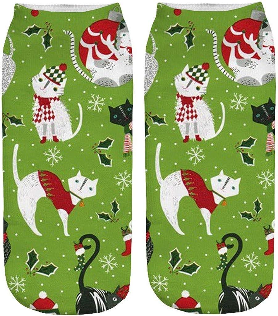 Sayhi Christmas Kids Crew Socks, Santa Elk Printing Socks, Crew Cozy Socks Women Fancy Xmas Holiday Design Soft Gift